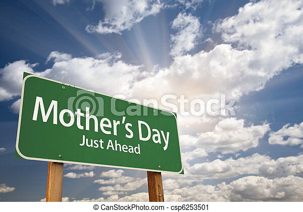 Mother's Day Green Road Sign - csp6253501
