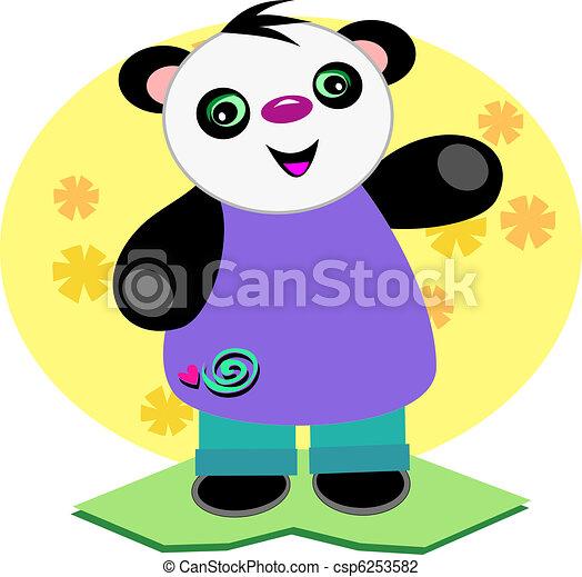 Smiling Baby Panda Bear - csp6253582