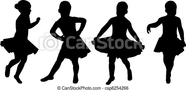 Una silueta de una niña - Imagui