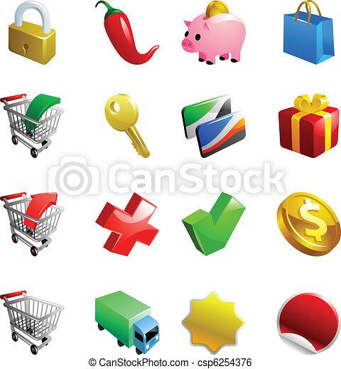 ecommerce iconset - csp6254376