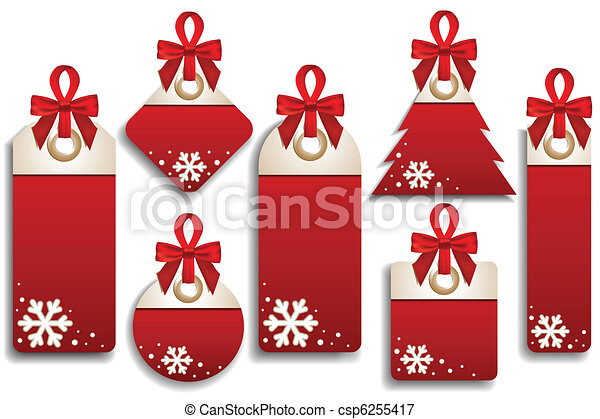 Winter Set of Sales Tags - csp6255417