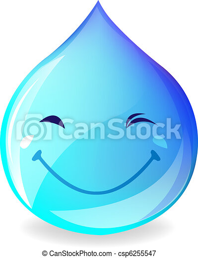 Smiling Drop Of Water - csp6255547