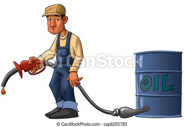zeichnungen von oel krise gas station arbeiter mit a pumpe ohne csp6255783 suchen. Black Bedroom Furniture Sets. Home Design Ideas