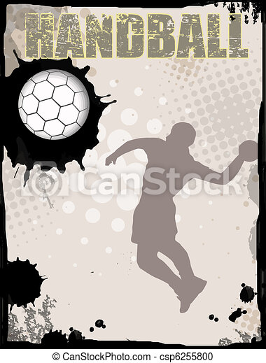 Handball abstract background - csp6255800
