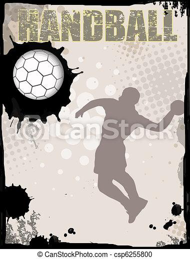 Handball abstract background - csp6255800