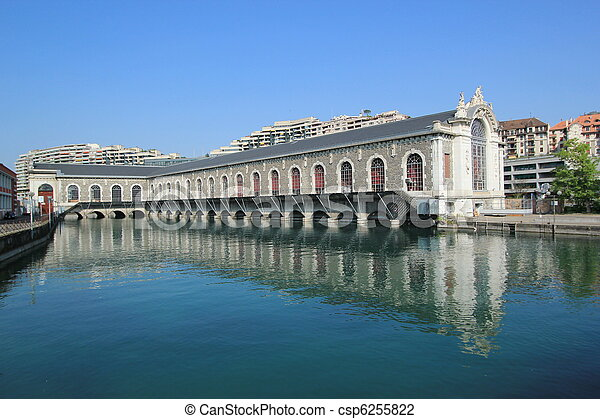 Batiment des Forces-Motrices, Geneva, Switzerland - csp6255822