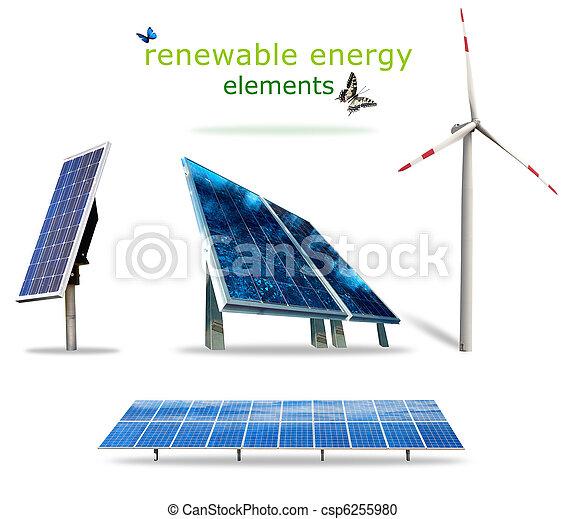 Renewable energy elements - csp6255980