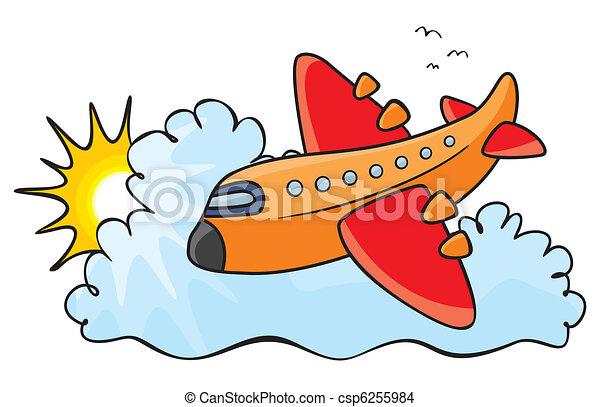 Orange aeroplane - csp6255984