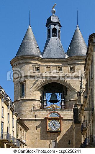 Grosse cloche de Bordeaux, Great Bell of Bordeaux, France - csp6256241