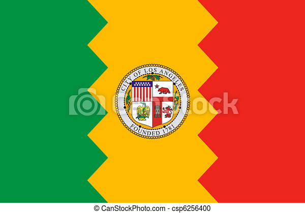 Los Anglese city flag - csp6256400