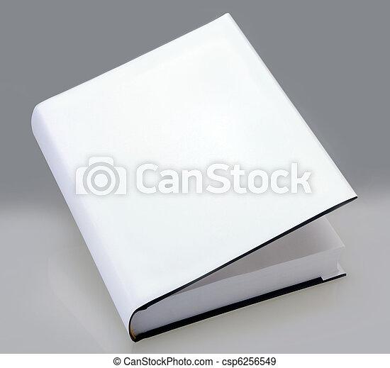 Book, hard cover, white, plain - csp6256549