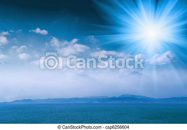 Beautiful  sea  on  the sun lite - csp6256604