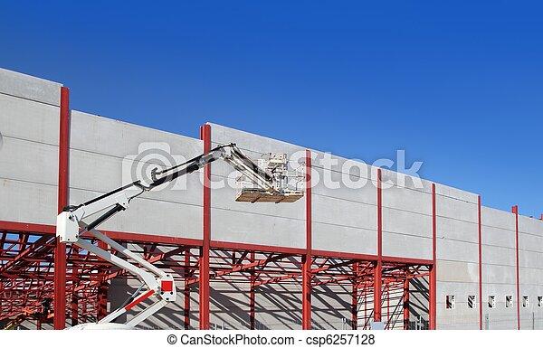 industrial building construction steel structure crane - csp6257128