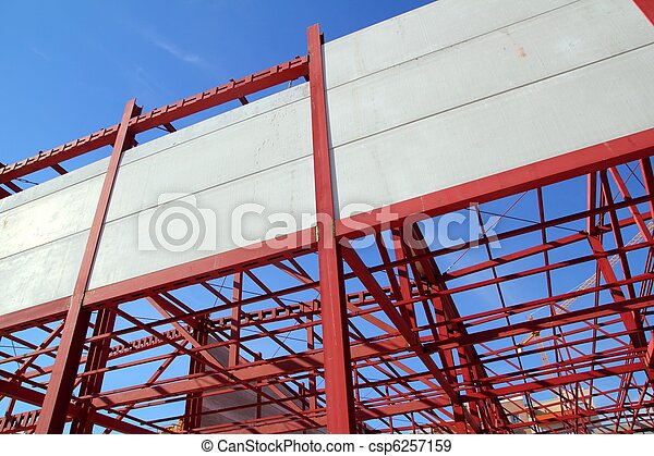 industrial building construction steel structure concrete - csp6257159