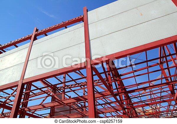 industrial building construction steel structure concrete - csp6257159