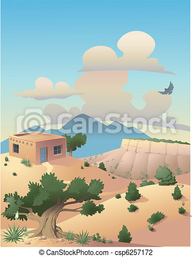Desert Landscape Illustration - csp6257172