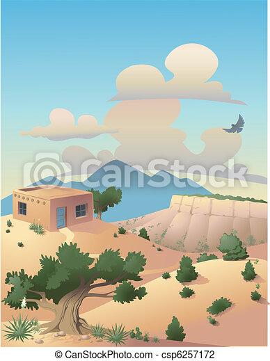 Desert Landscape Illustration - csp6257172