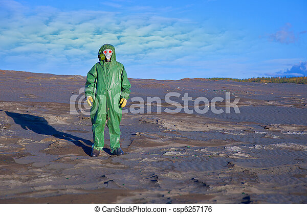 Environmental scientist in zone of ecological disaster - csp6257176