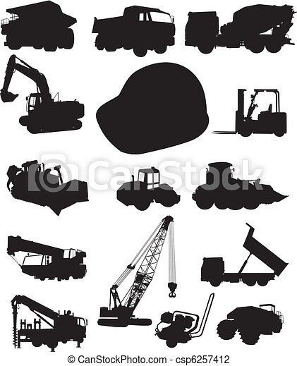 Construction and trucks - csp6257412