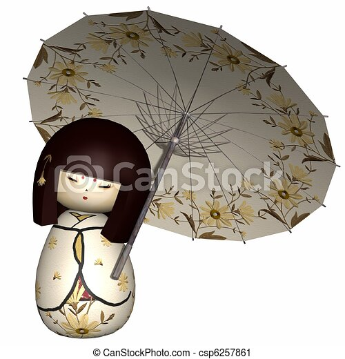 Japanese traditional doll - csp6257861
