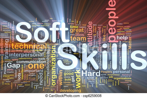 Soft skills background concept glowing - csp6259008