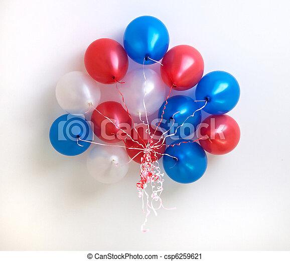 balões, penduradas, De, a, Teto - csp6259621