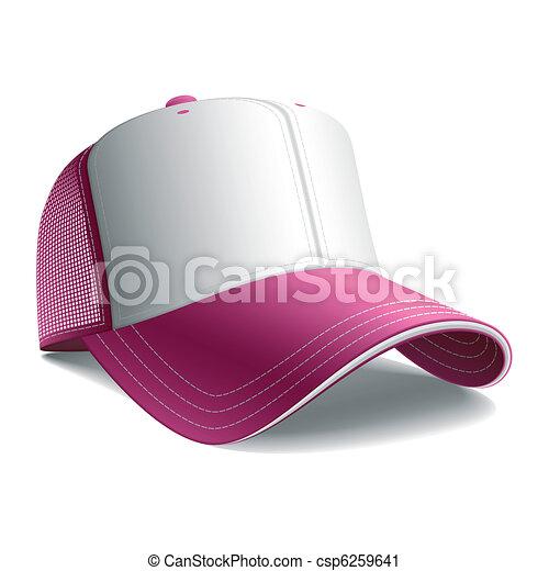 Pink baseball cap - csp6259641