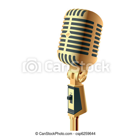 Gold microphone - csp6259644