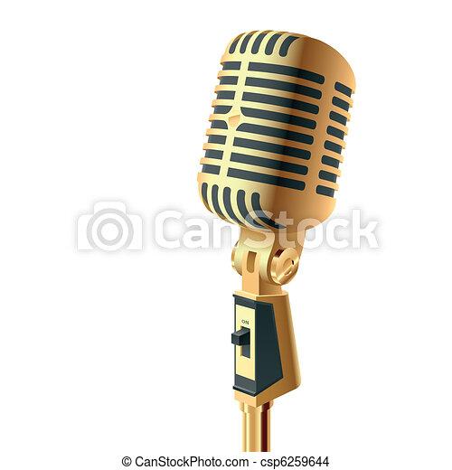 Gold microphone - csp6259644