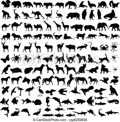 Animals silhouettes collection - csp6259658
