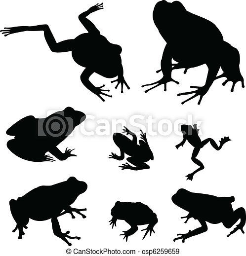 frogs silhouettes - csp6259659