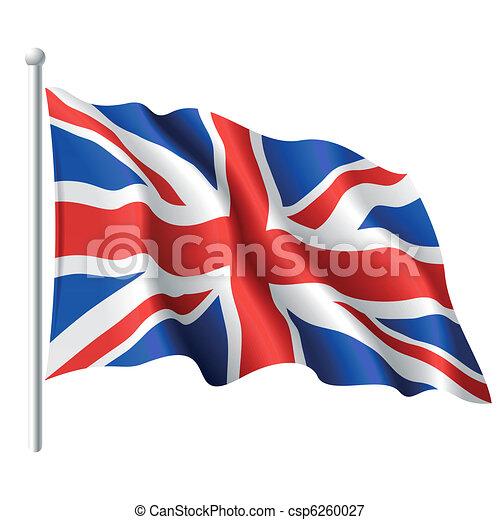 Flag of the United Kingdom - csp6260027