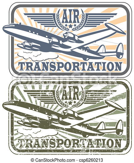 Air transportat stamp - csp6260213