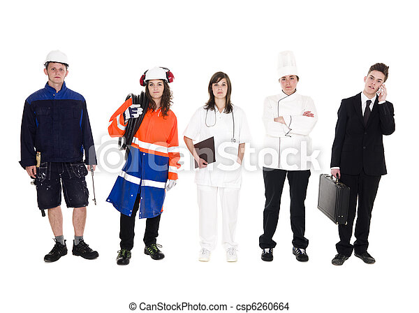 Group of people with different occupation - csp6260664