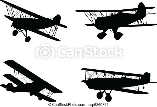 Old Fashioned Biplane