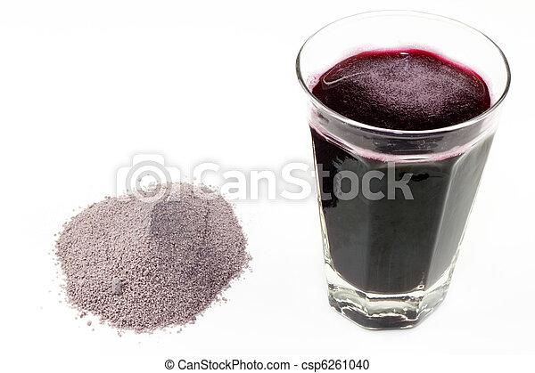 Fruit Powder and Juice - csp6261040