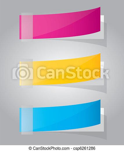 Multicolored stickers. Vector - csp6261286