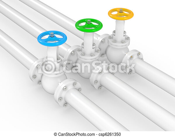 industrial valves on pipelines - csp6261350