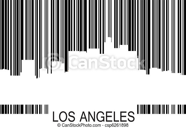 Los Angeles barcode b - csp6261898