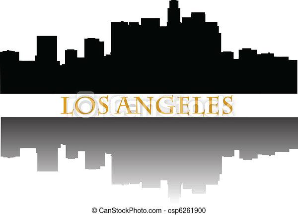 Los Angeles skyline a - csp6261900