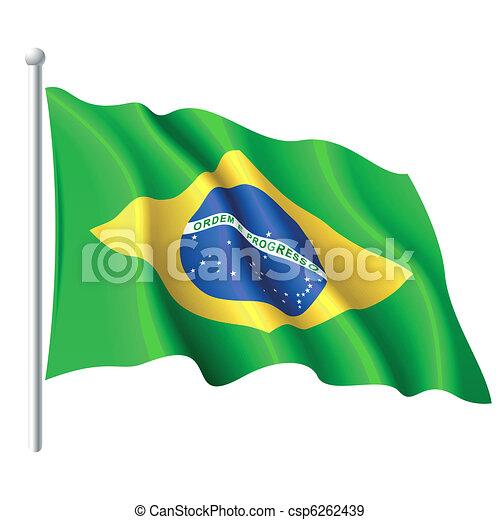 Flag of Brazil - csp6262439