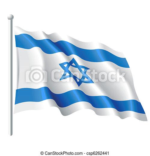 Flag of Israel - csp6262441