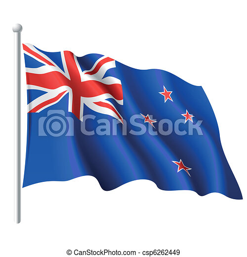 Flag of New Zealand - csp6262449
