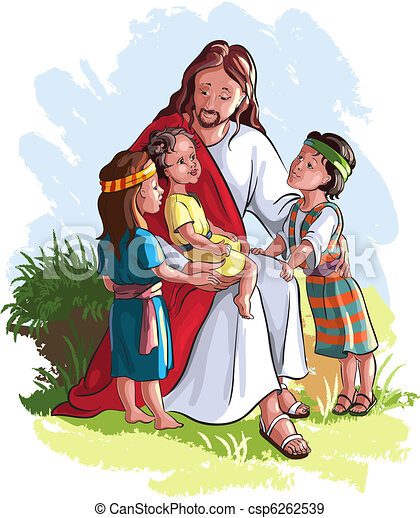 Jesus With Children - csp6262539