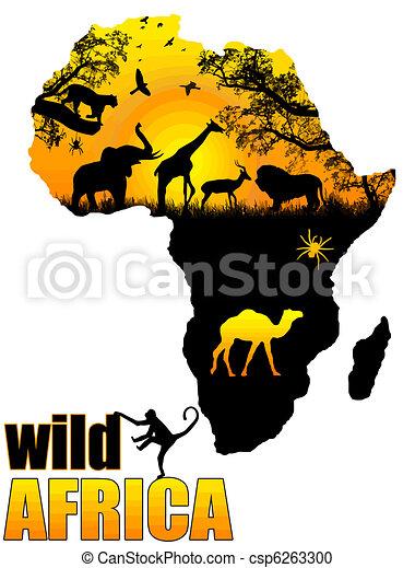 Wild Africa poster - csp6263300
