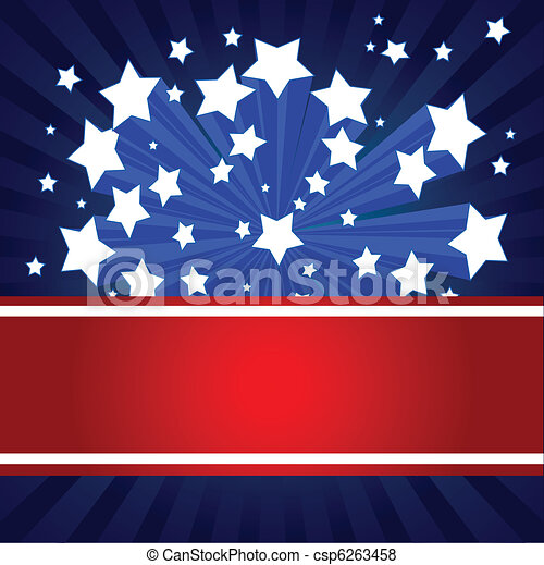 American starburst background - csp6263458