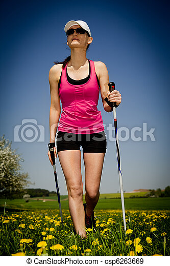 nordic walking - csp6263669
