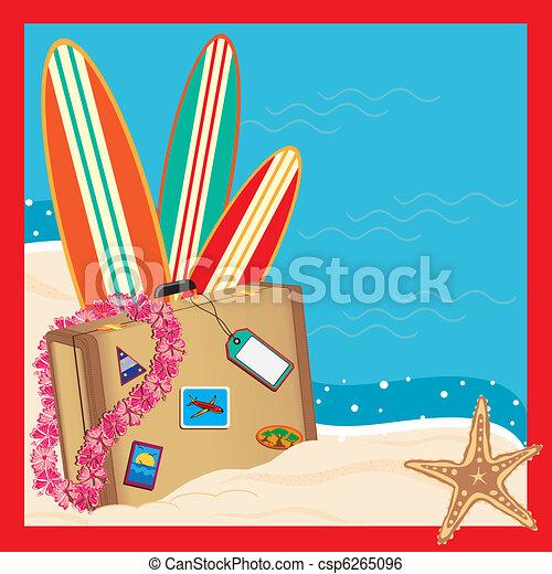 Tropical Vacation Invitation - csp6265096