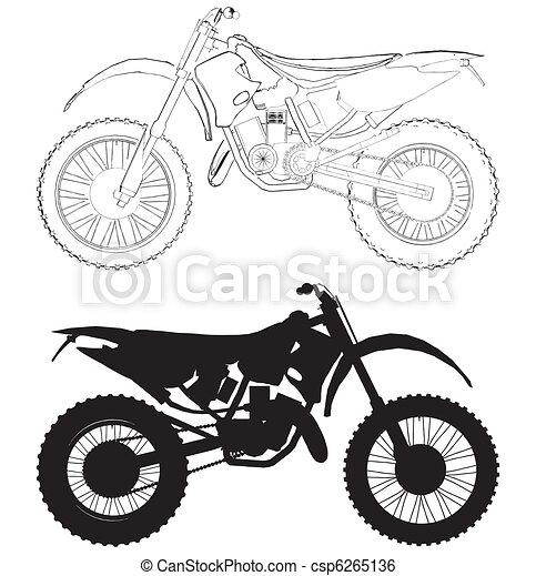 Clip Art de vectores de Motocross, bicicleta, vector csp6265136 ...