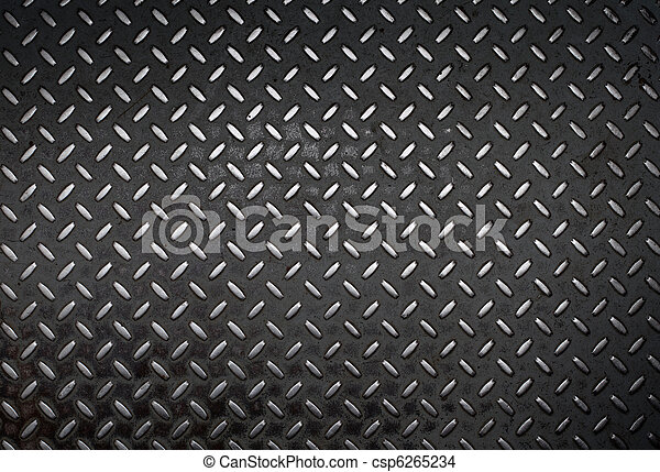 grunge diamond metal background - csp6265234